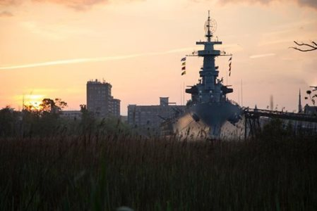 USS North Carolina Battleship, downtown Wilmington, NC